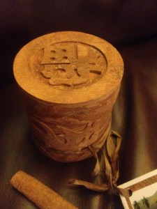 cinnamon carved gift box