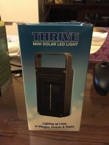 solar powered flashlight box