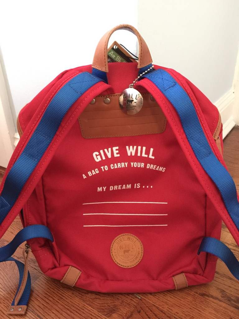 top quality knapsack for kids from wills leather, with dream section on back